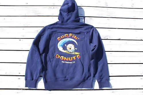 Surfin' Donuts Hoodie Navy
