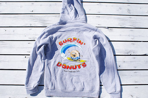 Surfin Donuts Gray Hoodie