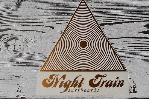Night Train Surfboard ステッカー ゴールド