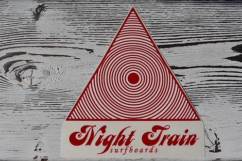 Night Train Surfboard ステッカー レッド