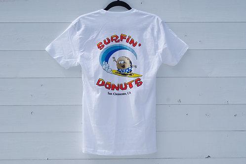 Surfin' Donuts Tee White