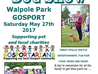 Proud to sponsor Gosport Dog Show