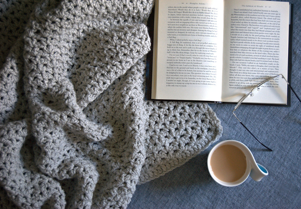 crochet v stitch blanket