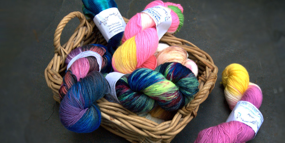 Hand dyed yarn by Dye Candy