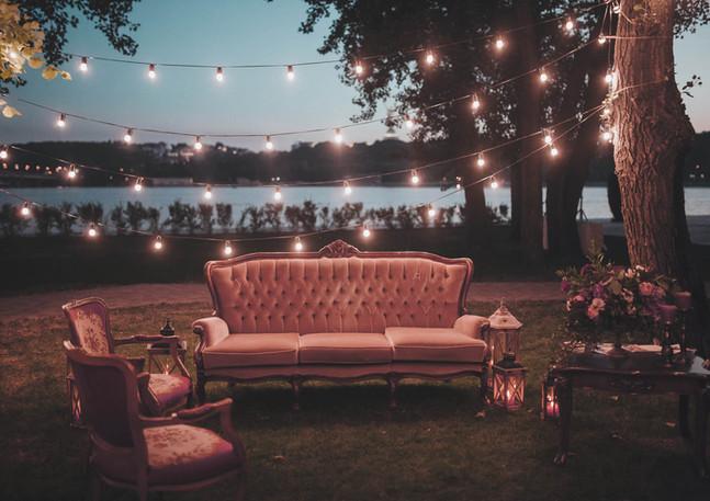 Venkovní svatební dekorace