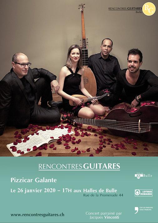 Pizicar Galante - Concert 26 janvier 2020 - Bulle - RencontresGuitares