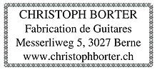 Parrain Christophe Borter les RencontresGuitares de Bulle