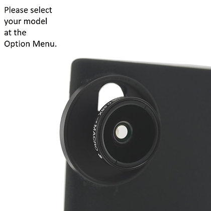 2-in-1 Fisheye + Macro Lens for Samsung Galaxy Note 20, S20, S10 Smartphones