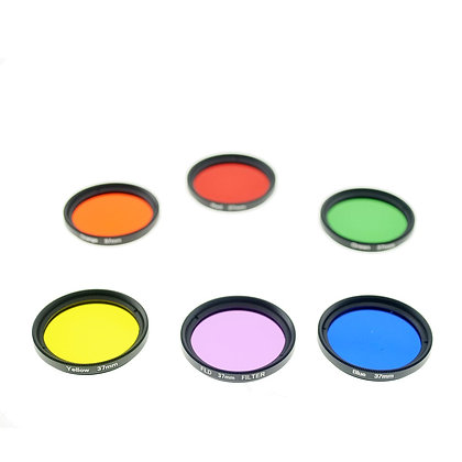 37mm Thread #3 Solid Color Red, Orange, Yellow, Green, Blue, Purple Filter Set