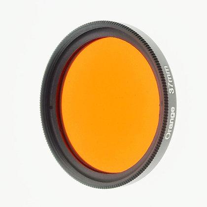 37mm Thread #3 Solid Color Orange Filter Lens