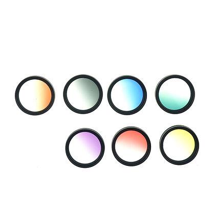 37mm Thread Gradual Color Red, Orange, Yellow, Green, Blue, Purple Gray Lens Set