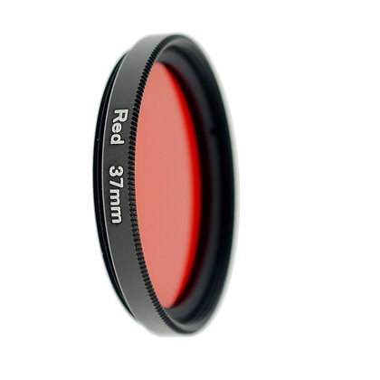 37mm Thread #3 Solid Color Red Filter Lens