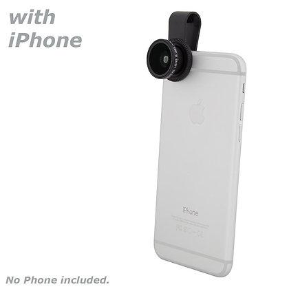 Quick-Clip Fisheye Lens for Smartphones / iPhone