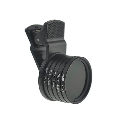 37mm Neutral Density Lens Set (ND Filter) with Universal Clip for Smartphons