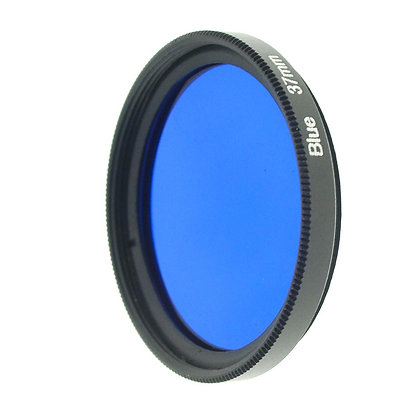 37mm Thread #3 Solid Color Blue Filter Lens
