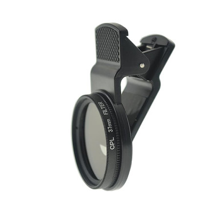 37mm Circular Polarsing Lens (CPL) with Universal Smartphone Photography Clip