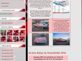 Dominique Delorme and Nicolas Delorme ARP au Rallye circuit du castellet pour