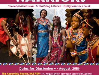 The Osiligi Maasai Warriors are coming to Glastonbury!