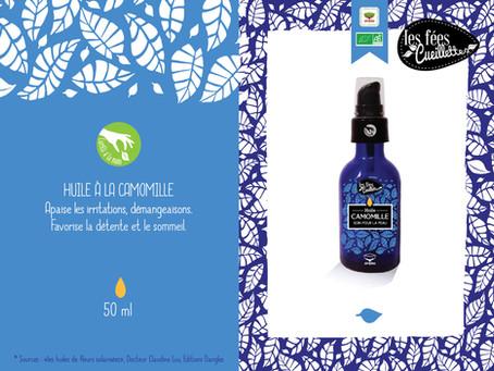 """Nouveau """" huile  de massage à la camomille"""""""
