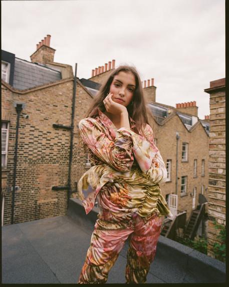 Isabella Plantation print Twist shirt and trouser