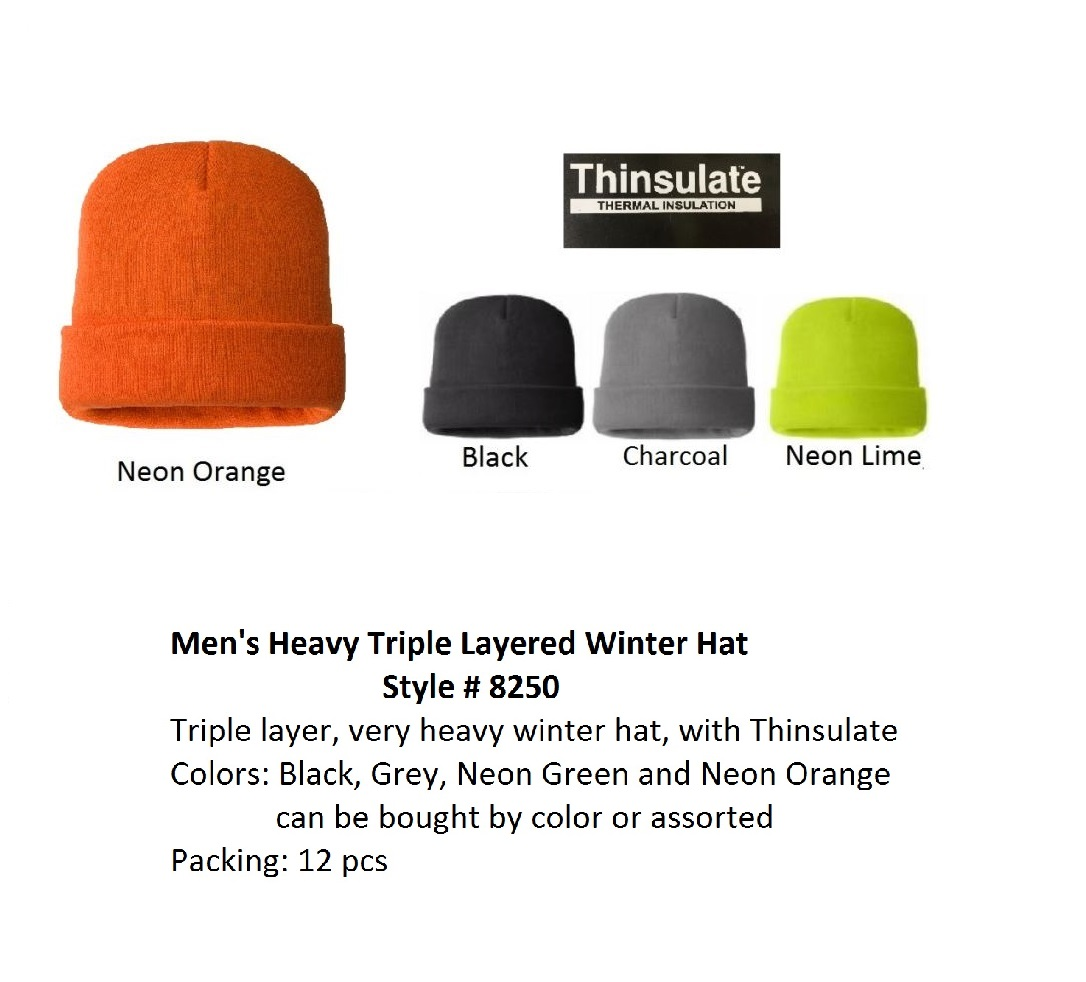 MO8250 Heavy Ski Hats