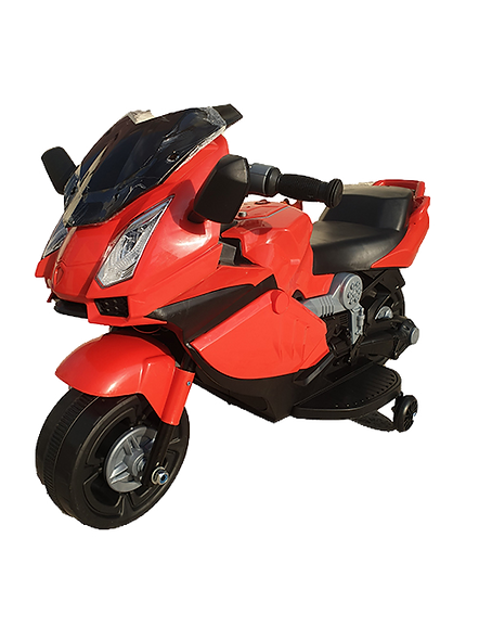 ozra kids JAG-SAS Kid's Electric Rechargeable Ride-on Motorbike (Red, 2-4 Years