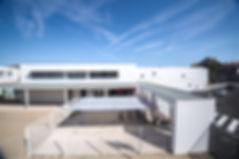 Extension Lycée Pyrène - Vue de l'entrèe - Rinaldi&Levade-Architectes Ariège et Toulouse