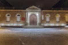 Extension Lycée Pyrène - Vue fronton nuit - Rinaldi&Levade-Architectes Ariège et Toulouse