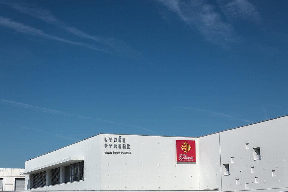 Extension Lycée Pyrène - Vue haute - Rinaldi&Levade-Architectes Ariège et Toulouse