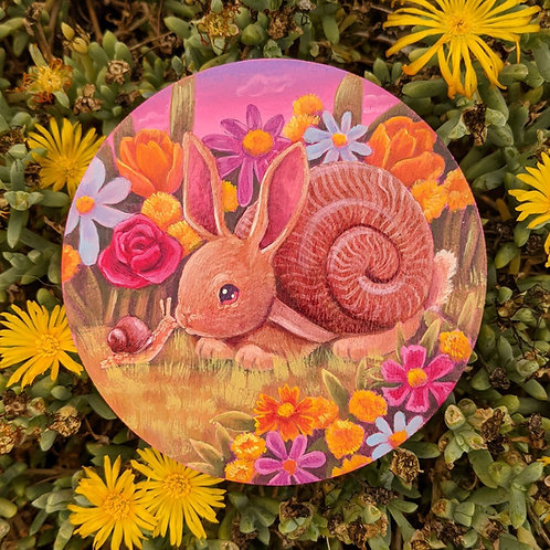 Snail Bun Giclee Print