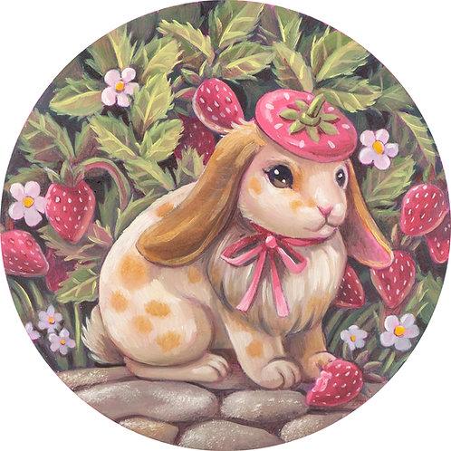 Strawberry Bun Giclee Print