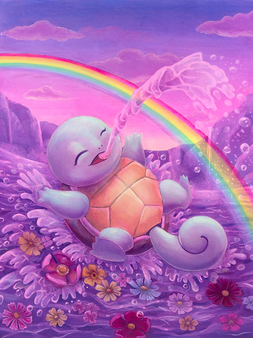 Squirtle Original Oil Painting