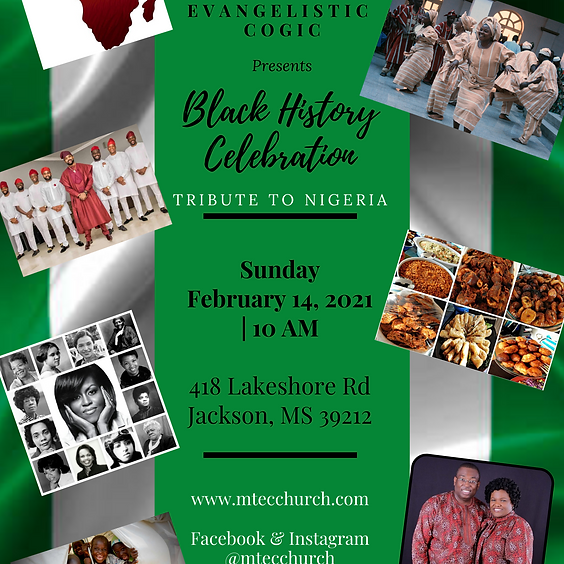 Black History Celebration- Tribute to Nigeria