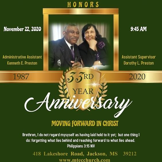 33rd Year Anniversary