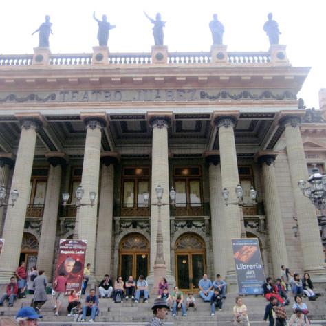 the Opera House in the city of Guanajuato
