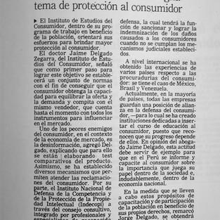 1993 RECONOCIMIENTO CONSTITUCIONAL DE LOS DERECHOS DEL CONSUMIDOR