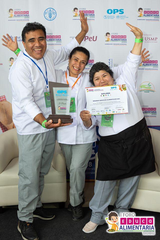 Equipo ganador el Tercer lugar - Miramar Servicios Alimenticios