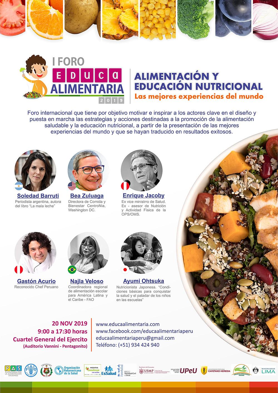 Alimentación y educación nutricional - Foro Educa Alimentaria 2019
