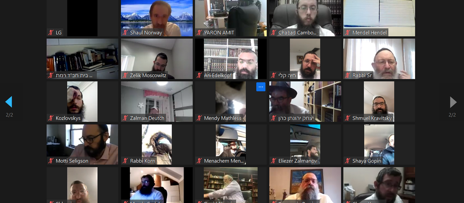 Chabad Lifeline Leaders Join World's Longest Zoom at Virtual Rabbinic Gathering