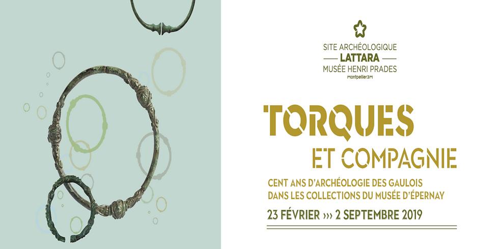 """Exposition """"Torques et compagnie"""" au Site archéologique Lattara à Lattes"""