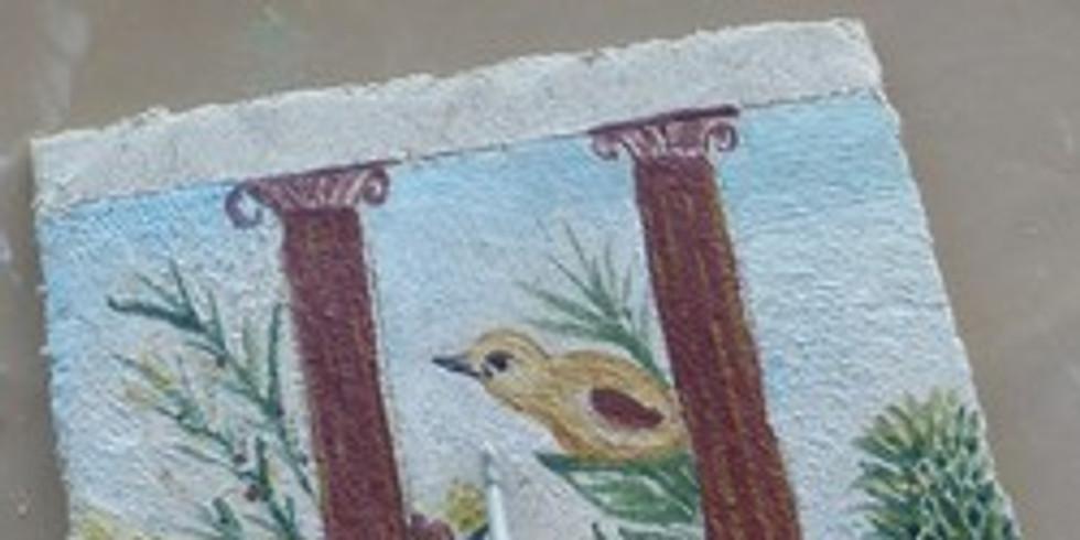 Atelier « Initiation à la fresque antique » à l'Ambrussum musée et site archéologique à Villetelle