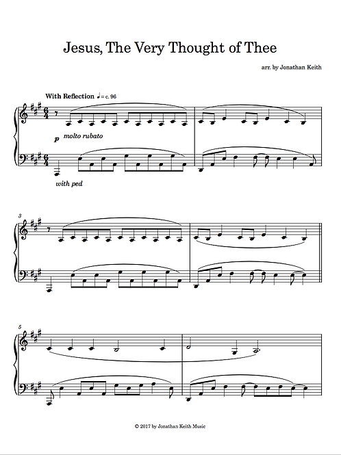 Jesus, The Very Thought of Thee - Sheet Music Download