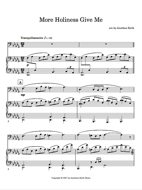 More Holiness Give Me - Sheet Music Download