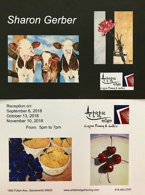 It's just around the corner - my next art show: Saturday, 9/8/18, 5-7PM!