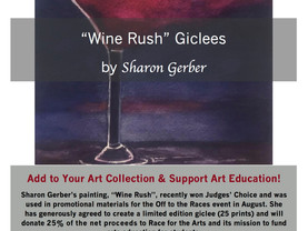 """Wine Rush"" - Judges Choice,  Giclees & Coasters!"