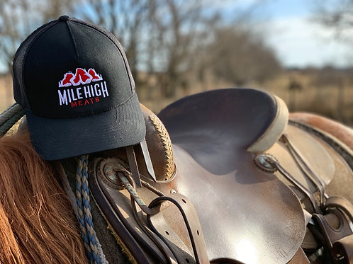 Mile High Meats Black Trucker Hat