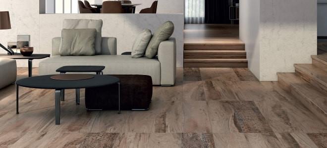 Керамический гранит Про Вуд трудно отличить от уложенных деревянных досок не только по виду, но и по размеру плит