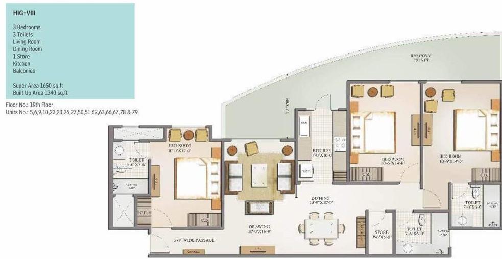 План квартиры с террасой в Дели (Индия), обустраиваемой по проекту студии дизайна Interierus.