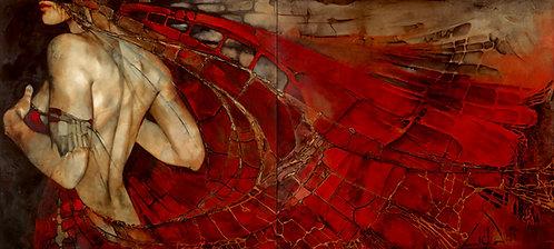 """#050 """"Perfume"""" diptych giclée print on canvas"""