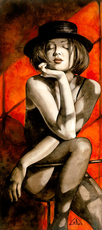 """#038 """"A Penny for Your Thoughts""""  giclée print on canvas"""